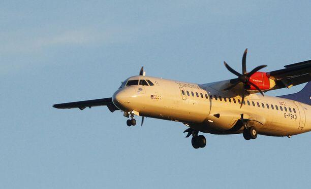 Perulaiskannattajia kuljettanut kone oli lentoyhtiö Utairin ATR 72 -mallin kone. Kuvituskuva, lentoyhtiö SAS ei liity Venäjän tapaukseen.