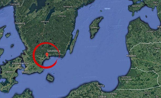 Onnettomuus tapahtui Etelä-Ruotsissa.