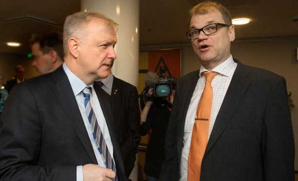 Olli Rehn ja Juha Sipilä.