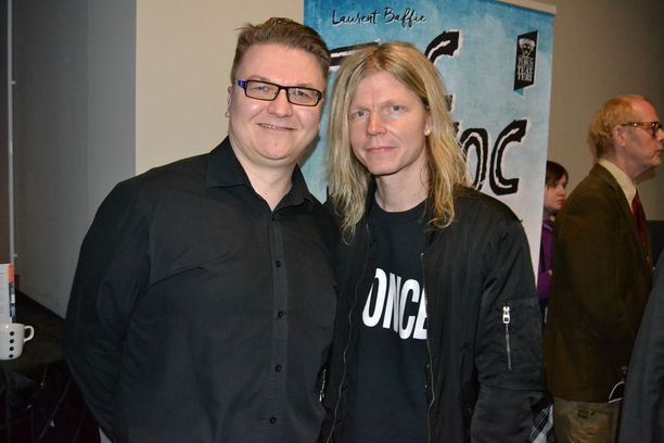 Jussi Vahvaselkä ja Jori Sjöroos loivat musiikin Tom of Finland -musikaaliin.