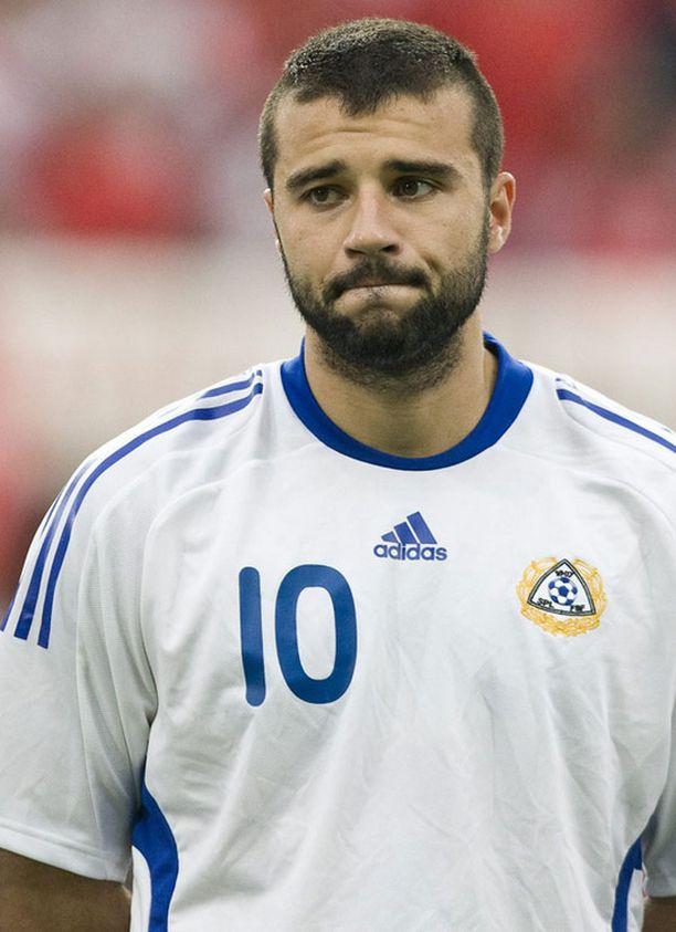 Alexei Eremenko totisena ennen Turkki -Suomi harjoitusottelun alkamista Duisburgissa Saksassa vuonna 2008.