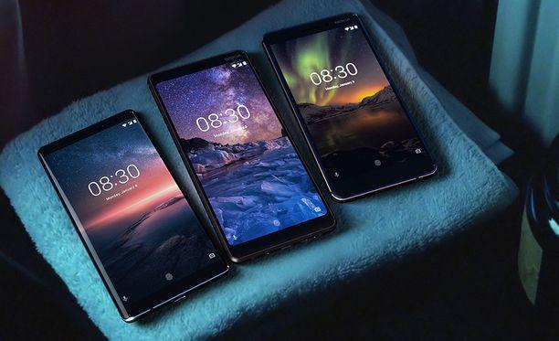 HMD toi Nokia 8 Siroccon, Nokia 7 plussan ja Nokia 6:n myyntiin huhtikuussa.