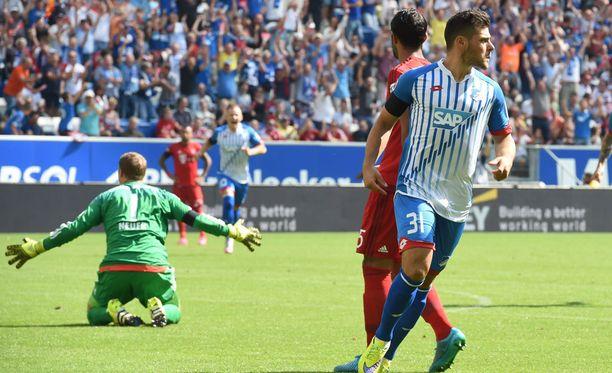 Kevin Volland oli lähellä päästä juhlimaan Bundesliigan historian nopeinta maalia.