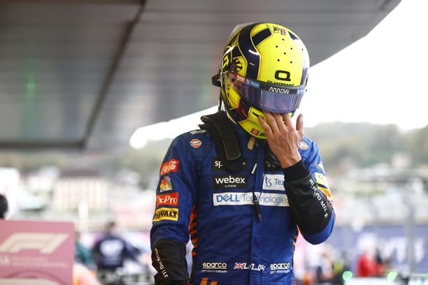Lando Norris oli pettnyyt mies Venäjän GP:n jälkeen.
