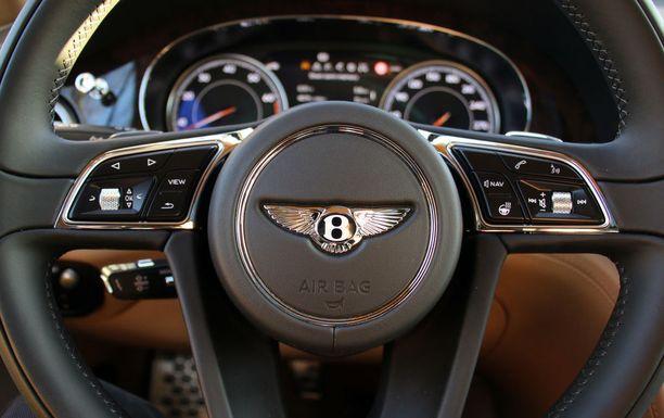 Siivekäs logo katsoo ratin keskiöstä.