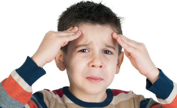 Pienen lapsen päänsärky voi olla migreeniä.