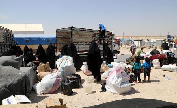 Lääkäri Nemam Ghafourin mukaan Isis on järjestäytynyt myös al-Holin leirillä.