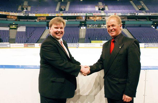 Timo Jutila ja Heikki Riihiranta kuvattuna vuonna 2004.