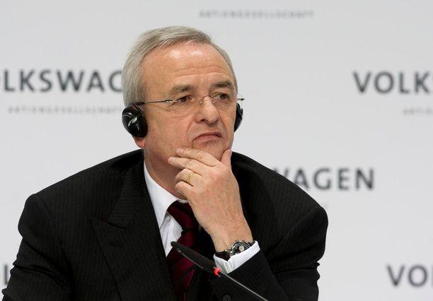Volkswagenin pääjohtaja Martin Winterkorn joutui eroamaan skandaalin vuoksi.