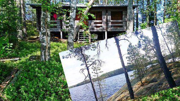 Kuvan 77-neliöinen mökki sijaitsee saaressa Saimaalla ja hintapyyntöä sillä on 79 000 euroa.