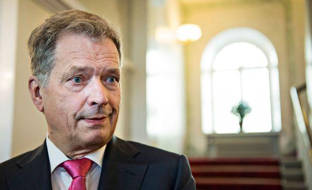 Presidentti Sauli Niinistö. Arkistokuva.