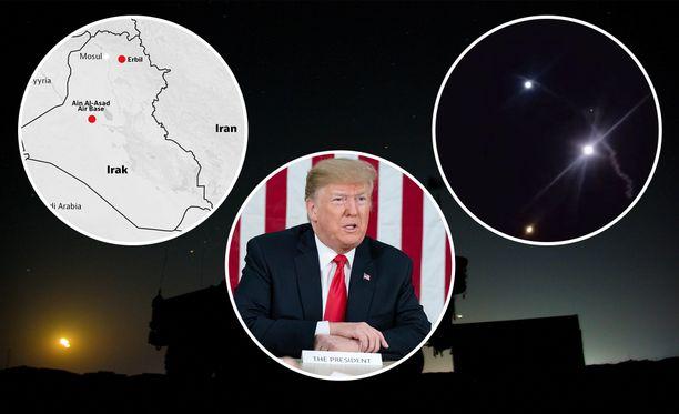 Presidentti Donald Trumpin odotetaan kommentoivan iskuja pian.