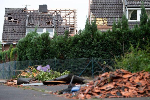 Taloja vaurioitui Viersen-Boisheimin alueella.