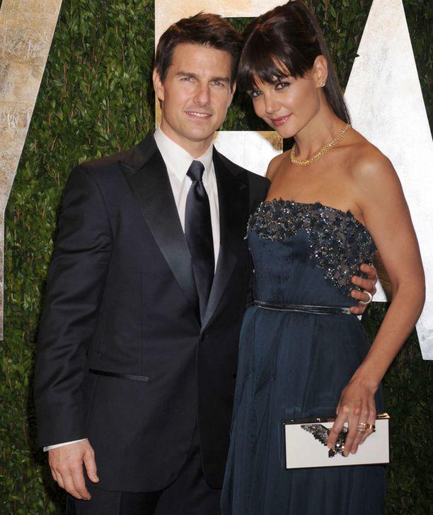 Tom ja Katie Oscar-jatkoilla alkuvuodesta.