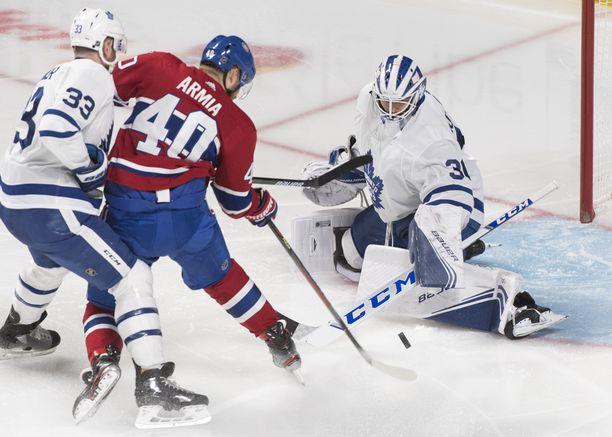 Joel Armia rankaisi Maple Leafsia.