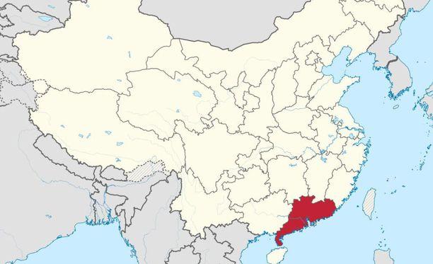 Tulipalo sytytettiin Guandongin provinssissa.