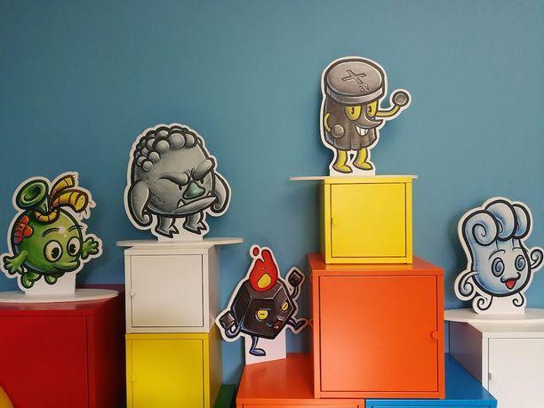 Pelin hahmoissa on samanlaisia piirteitä kuin vaikkapa Pokemoneissa tai Angry Birds -hahmoissa.