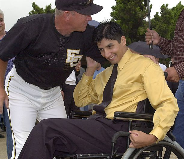 Matt Lachappa on armoton Padres-fani (kuva vuodelta 2001).