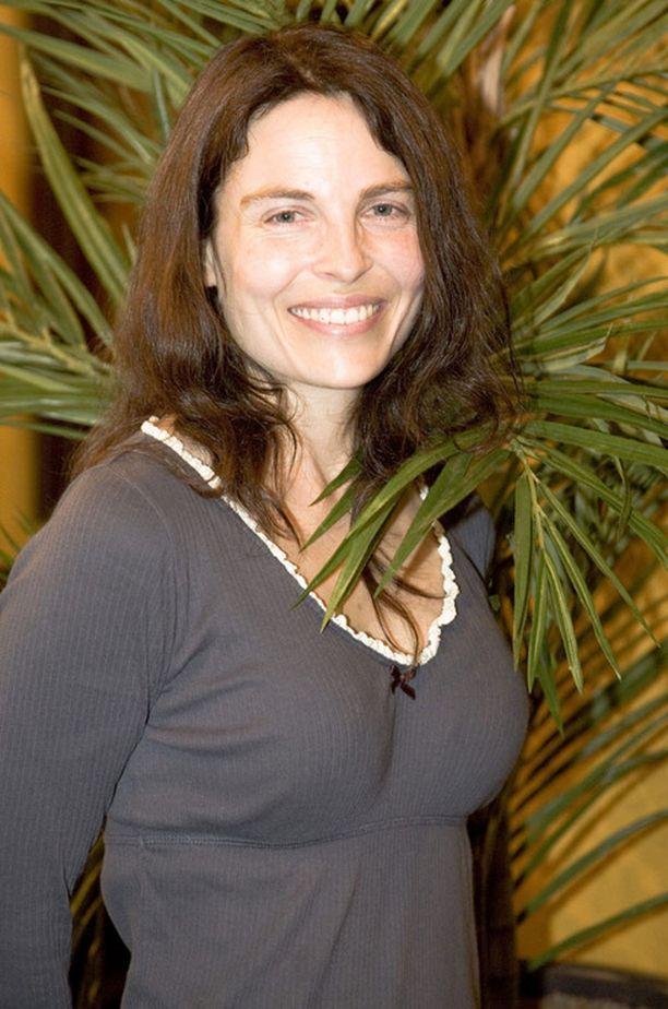 Irina Björklund Mannerheim-elokuvan infotilaisuudessa elokuussa 2008.