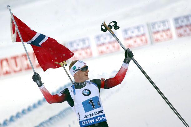 Norjan Johannes Böllä on syytä hymyyn. Arkistokuva.