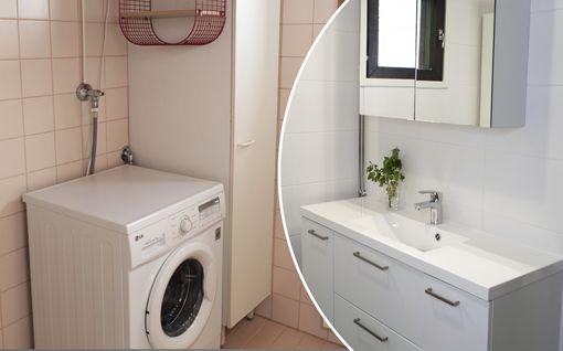 Kuvat ennen ja jälkeen! Näin Ennin perhe säästi 23 000 euroa ja remontoi kylpyhuoneen upeaksi