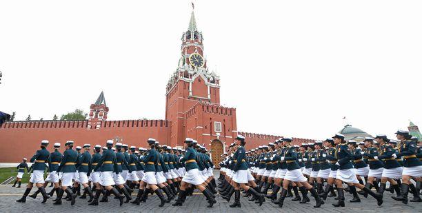 Venäläisvakooja on julistettu kadonneeksi. Kuvituskuva voitonpäivän juhlallisuuksista Moskovasta viime toukokuussa.