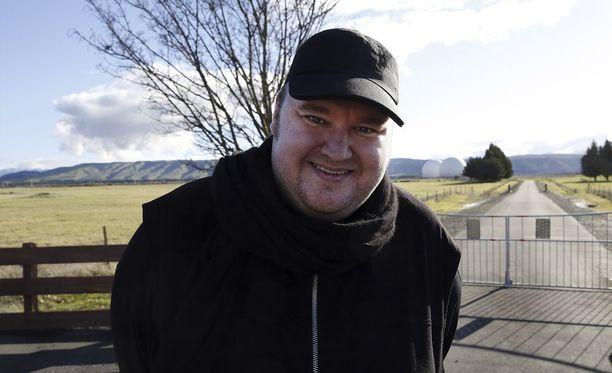 Kim Dotcom elokuussa 2014 Uudessa-Seelannissa.