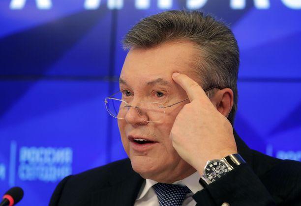Viktor Janukovyts tuomittiin hiljattain poissaolevana 13 vuoden vankeuteen.