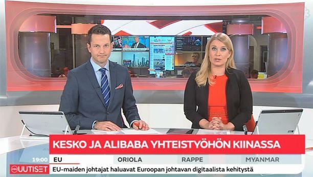 Bonnier omistaa Suomessa MTV:n. Ruutukaappaus MTV:n uutisista 29.9.2017.