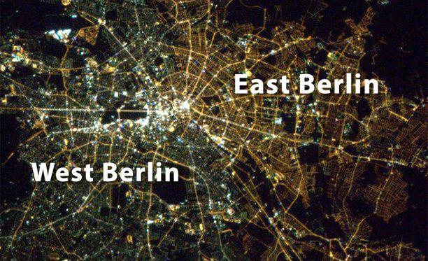 Jako Itä- ja Länsi-Berliiniin näkyy edelleen, vaikka Berliinin muuri murtui jo 1989.