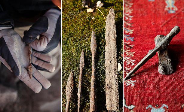 Laukon kartanosta tehtiin löytöjä kansainvaellusajan keihäänkärjestä, aseista ja sekä skandinaavisesta keihäänkärjestä. Näet kuvat suurempana tämän jutun lopusta.