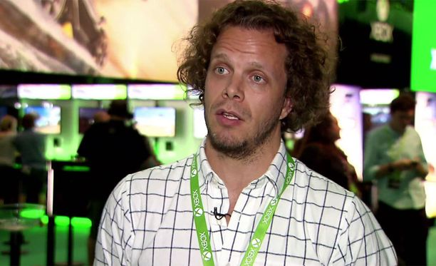 Jarno Kallunki-Mättö Xbox Finlandilta toteaa, että messujen paras puoli on päästä käsiksi tuleviin peleihin jo ennen kuin ne ovat kaupoissa.