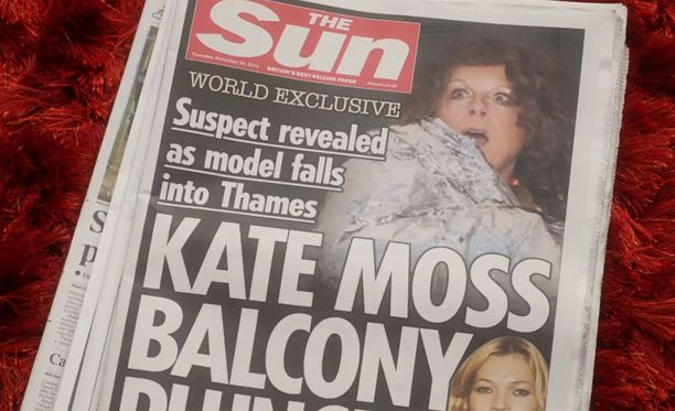 Kate Mossin parveke-tippuminen on ykkösuutinen.