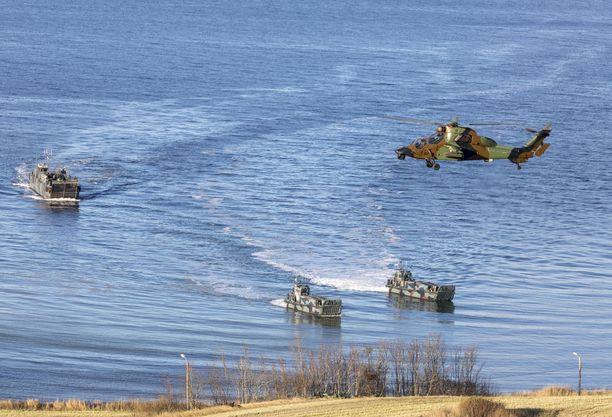 Naton Trident Juncture -sotaharjoitus järjestettiin 25.10.-7.11. Kuva on otettu Norjan Trondheimissa.