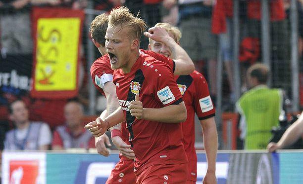 Joel Pohjanpalo on tehnyt maaleja Bundesliigassa hirmuisella tehokkuudella.