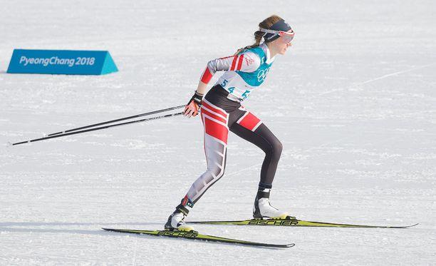 Teresa Stadlober jäi mokansa takia 30 kilometrin kilpailussa yhdeksänneksi.