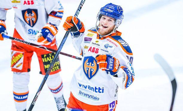 Niko Ojamäki iski tiistaina Oulussa tehot 2+1.