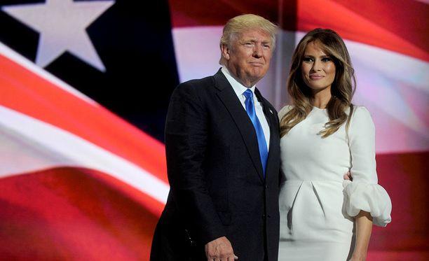 Melania Trump on osallistunut aktiivisesti miehensä kampanjatilaisuuksiin.