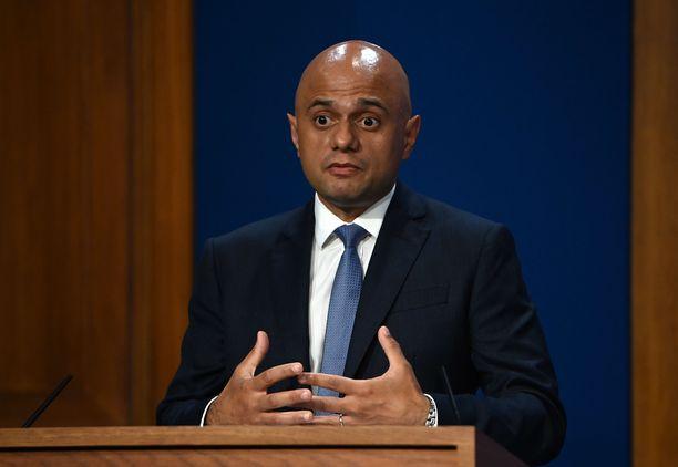 Britannian terveysministeri Savid Javid kertoi koronapassista sunnuntaina.