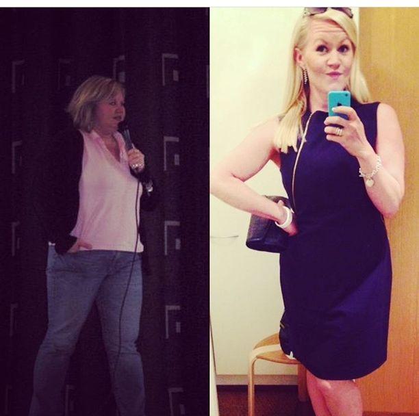 Lotta Backlund on ylpeä onnistuttuaan pitämään painonsa laihdutuksen jälkeen.