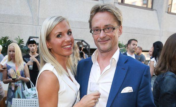 Emilia Poikkeus ja Mikael Jungner edustivat yhdessä vielä loppukesästä.