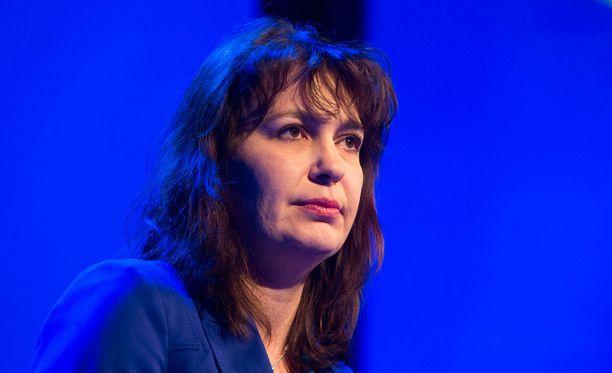 Riikka Slunga-Poutsalo on toiminut perussuomalaisten puoluesihteerinä vuodesta 2013.