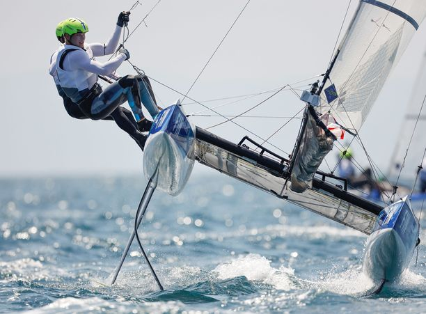 Sinem Kurtbay ja Akseli Keskinen purjehtivat vauhdikkaassa nacra 17 -luokassa, joka on mukana myös Pariisissa 2024.