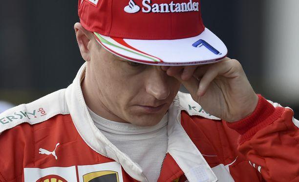 Kimi Räikkönen ei päässyt hakemaan Ferrariinsa hyviä säätöjä.