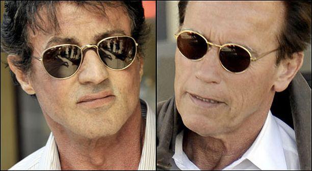 Sylvester Stallonea ja Arnold Schwarzeneggeriä yhdistävät autot ja sikarit. Myös vaatemaku näyttää osuvan aika yksiin.