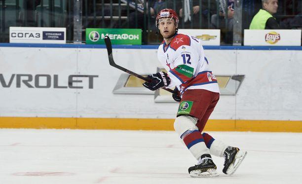Ilari Filppula oli pelipäällä myös KHL:ssä.