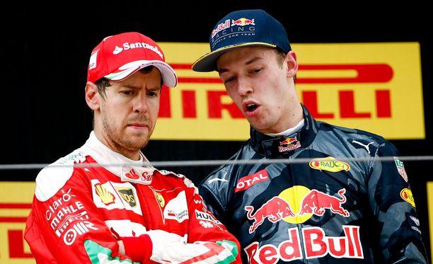 Sebastian Vettelin ja Daniil Kvjatin välit tuskin ainakaan lämpenivät sunnuntain tapahtumien jälkeen.