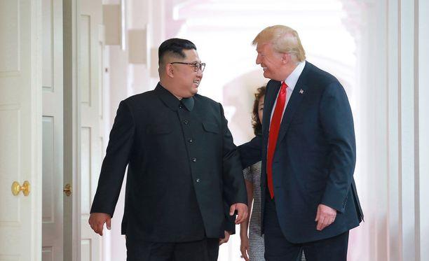 Trump tapasi Pohjois-Korean johtajan Singaporessa kesäkuun 12. päivä.