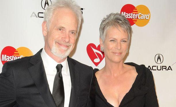 Christopher Guest vierellään vaimo Jamie Lee Curtis. Pariskunta on ollut yhdessä jo vuosia.