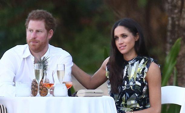 Prinssi Harry ja Meghan Markle kuvattiin yhdessä häissä viime maaliskuussa Floridassa.